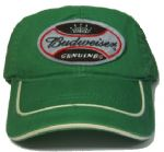 Officially Licensed Budweiser Label Baseball Green Cap